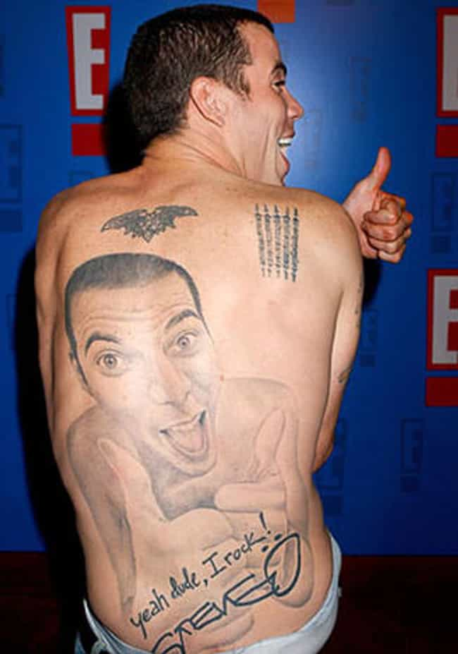 Of Course, Steve-O Is the Only... is listed (or ranked) 4 on the list Hilarious TV Show Host Tattoos