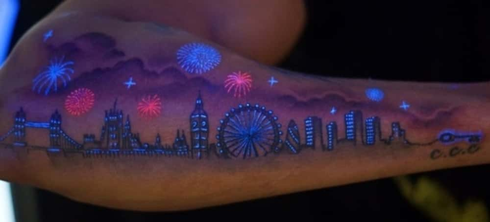 This Awesome Glow-in-the-Dark ... is listed (or ranked) 1 on the list The Most Awesome Skyline Tattoos
