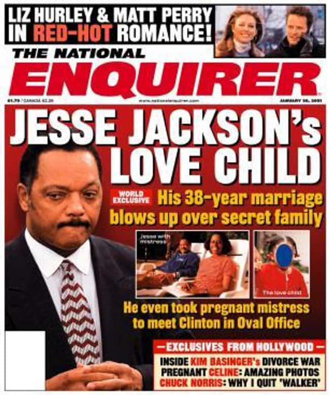 Jesse Jackson's Secret Love Ch is listed (or ranked) 5 on the list 17 Times the National Enquirer Broke Real News