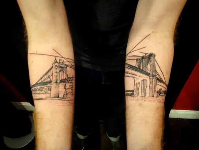This Incredible Two-Arm Tat of... is listed (or ranked) 1 on the list Awesome Tattoos That Shout Out to Home