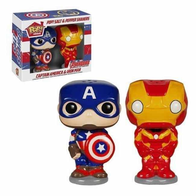 Civil War Salt and Peppe... is listed (or ranked) 4 on the list 20 Great Superhero Gift Ideas for the Demanding Fan