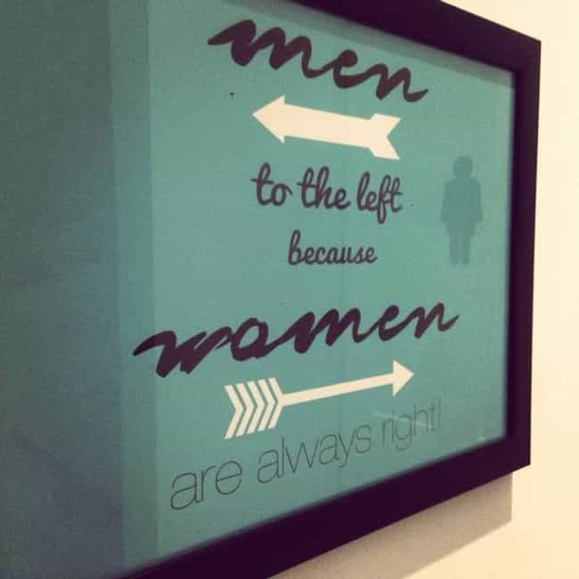 Funny Mens And Womens Bathroom Signs Spotted In Public