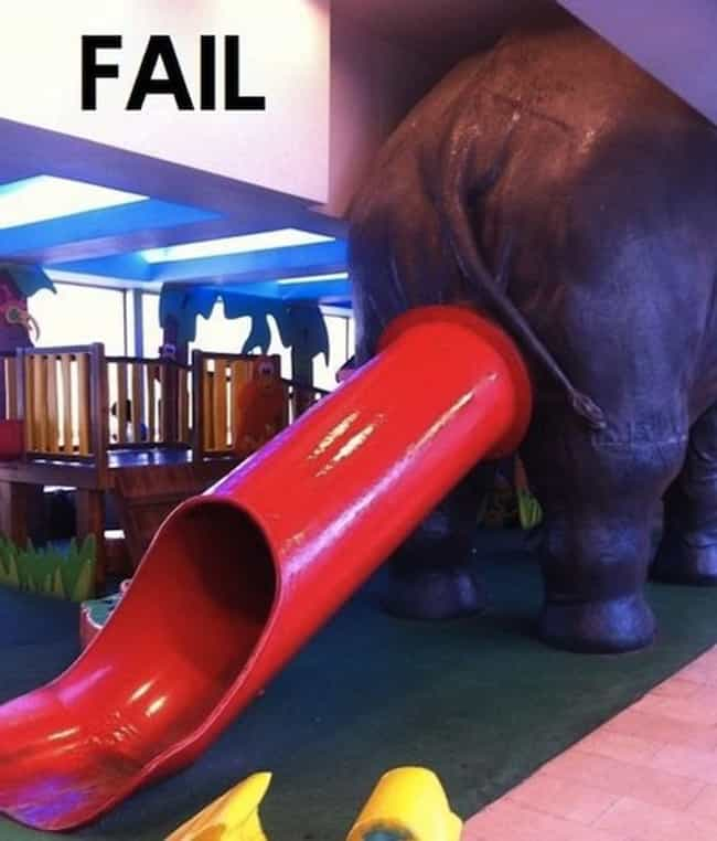 Nothing Says 'Fun!' Like Slidi... is listed (or ranked) 4 on the list 30 of the Most Hilarious Design FAILs, Ever