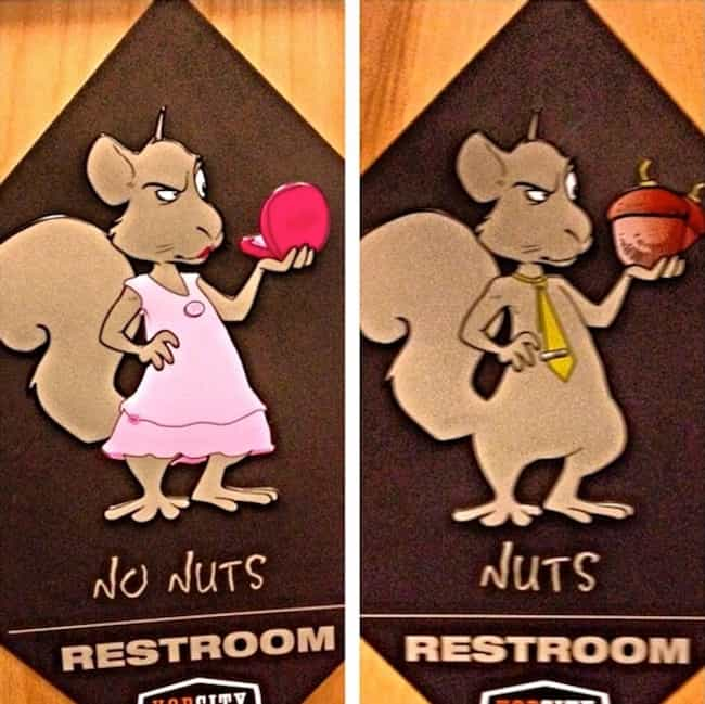 Doesn't Get More Clear T... is listed (or ranked) 7 on the list 43 Bathroom Signs That Will Really Make You Think... and LOL