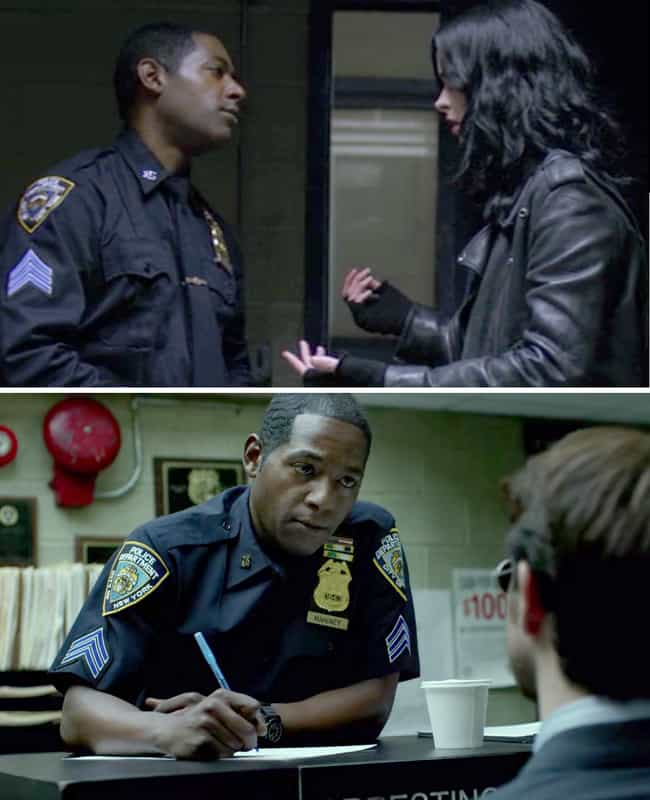 This Daredevil/Jessica Jones C... is listed (or ranked) 1 on the list 33 Easter Eggs You Never Would Have Noticed in Jessica Jones