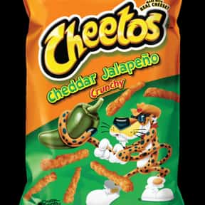 Jalapeno Cheddar Cheetos is listed (or ranked) 25 on the list The World's Most Delicious Chips, Crisps & Crunchy Snacks
