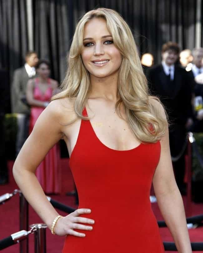 Jennifer Lawrence in a Red Dre... is listed (or ranked) 2 on the list The Most Beautiful Jennifer Lawrence Pictures