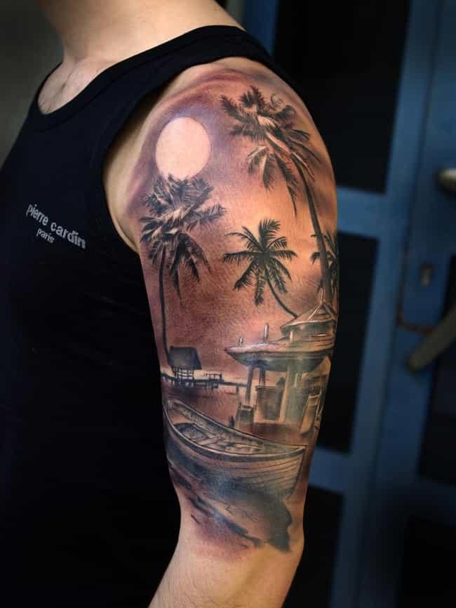 5b40c99078288a This Serene Seascape Florida Tattoo