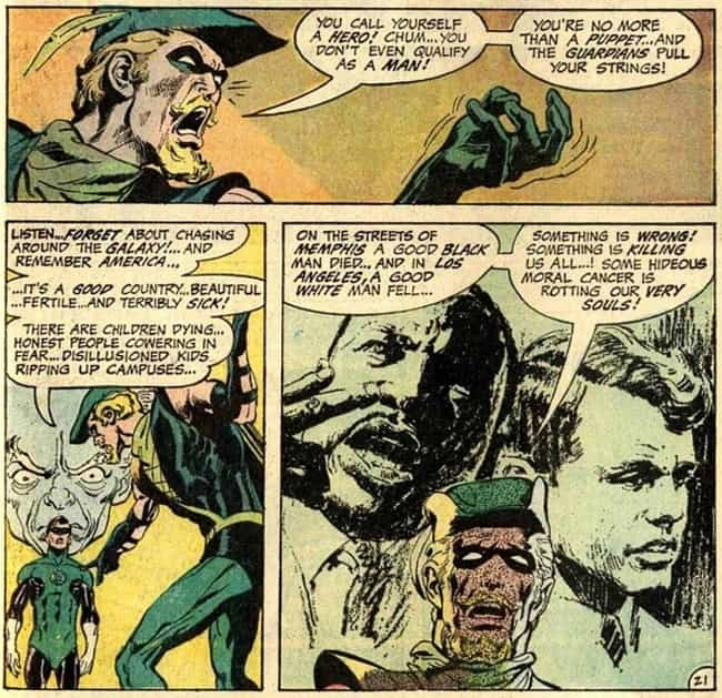 Green with Progress is listed (or ranked) 4 on the list 17 Times Comic Books Were Progressive Before It Was Cool