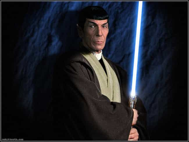 Spock... Jedi Master? is listed (or ranked) 1 on the list The Most Awesome Star Wars/Star Trek Crossover Fan Art