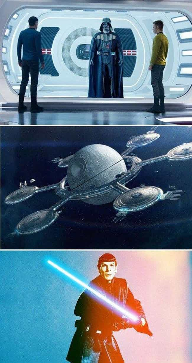 We'd Totally Watch JJ's ... is listed (or ranked) 4 on the list The Most Awesome Star Wars/Star Trek Crossover Fan Art