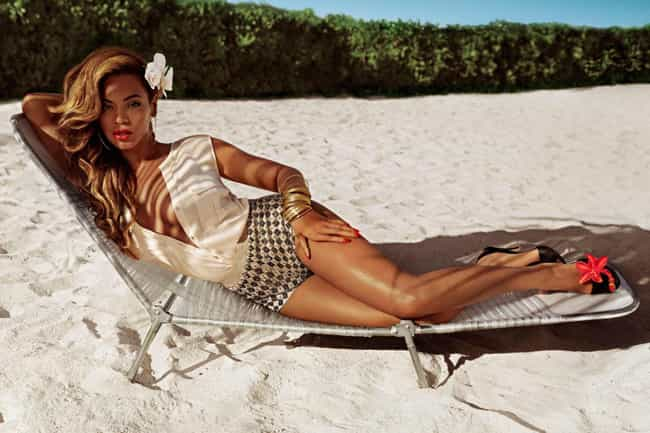 Beyonce partnered with H&M for... is listed (or ranked) 4 on the list The Most Beautiful Beyonce Pictures