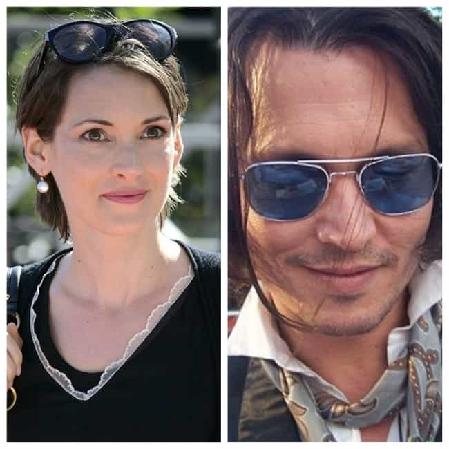 Winona Ryder and Johnny Depp is listed (or ranked) 1 on the list 24 Couples You Forgot Were Engaged