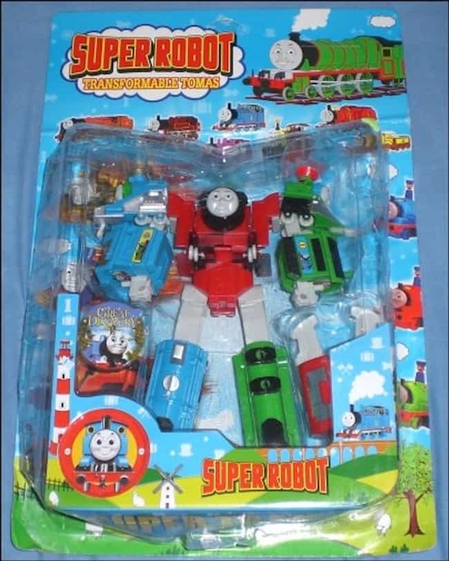 Dude, Thomas Got Ripped is listed (or ranked) 2 on the list 47 Hilarious Knock-Off Toys That Just Aren't Quite Right
