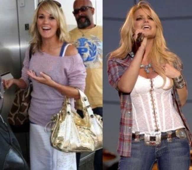 Jessica Simpson & Carrie U... is listed (or ranked) 4 on the list Hollywood's Most Famous Pogo Sisters