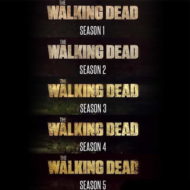The Titles Are Decaying ... is listed (or ranked) 3 on the list Hidden Easter Eggs In 'The Walking Dead'