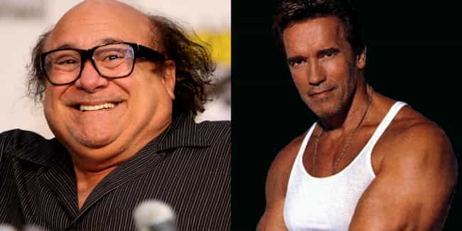Danny DeVito and Arnold Schwar... is listed (or ranked) 1 on the list Onscreen Relatives Who Look the Least Alike