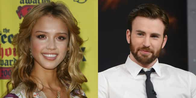 Jessica Alba and Chris Evans is listed (or ranked) 3 on the list Onscreen Relatives Who Look the Least Alike