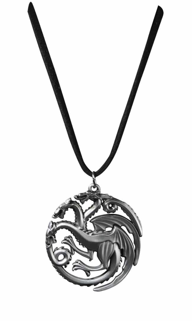 Targaryen Silver Pendant... is listed (or ranked) 3 on the list Game of Thrones Gifts for the Fan Who Has It All