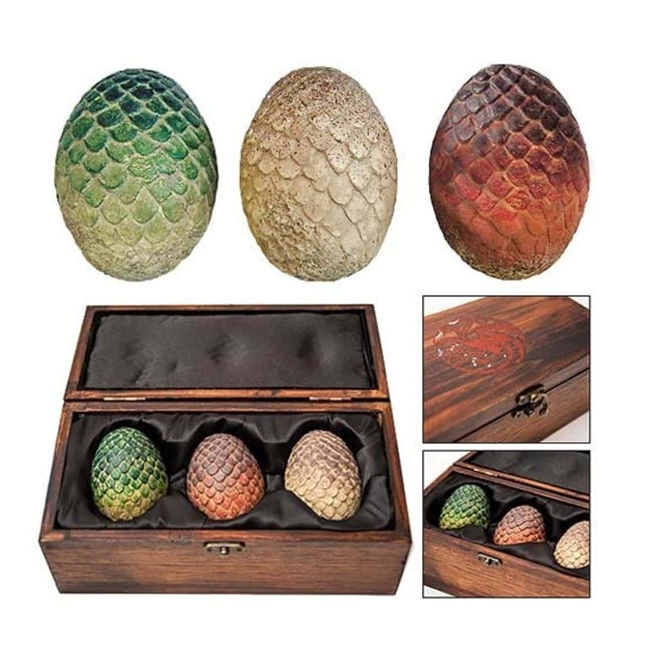 Dragon Egg Prop Replica Set is listed (or ranked) 2 on the list Game of Thrones Gifts for the Fan Who Has It All