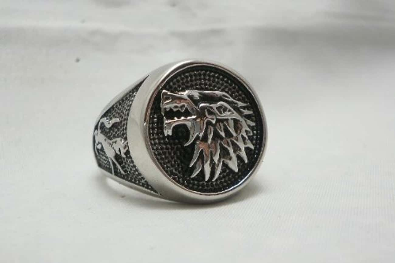House Stark Direwolf Ring is listed (or ranked) 1 on the list Game of Thrones Gifts for the Fan Who Has It All