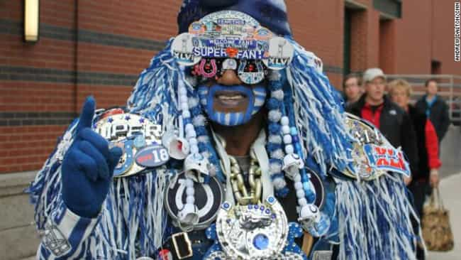 WTF is listed (or ranked) 2 on the list The 19 Craziest Super Bowl Fans of All Time