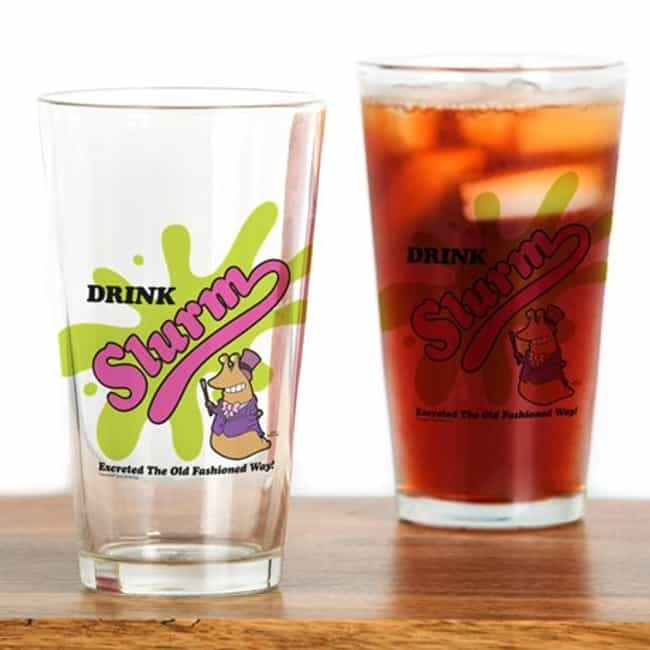 Slurm Pint Glass is listed (or ranked) 3 on the list Perfect Gifts for Futurama Fans