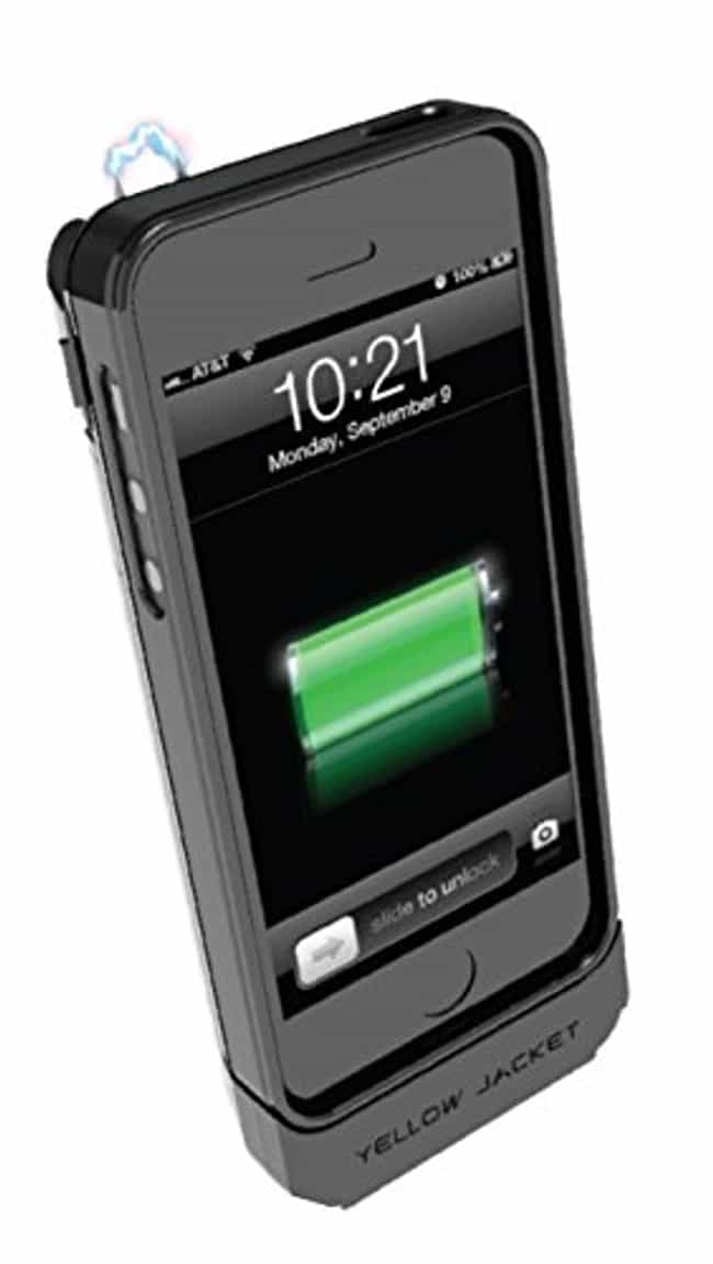 Yellow Jacket Stun Gun C... is listed (or ranked) 1 on the list Crazy iPhone Cases That Are Totally Useful