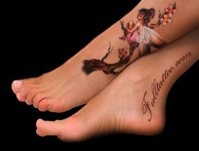 Fairy Foot Tattoo is listed (or ranked) 1 on the list Foot Tattoo Placement Designs and Ideas