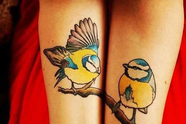 Birds Couple Tattoo is listed (or ranked) 7 on the list Couple Tattoo Ideas