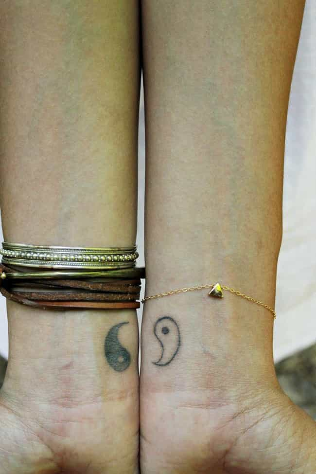 Yin Yang Friendship Tattoos is listed (or ranked) 3 on the list Friendship Tattoo Ideas