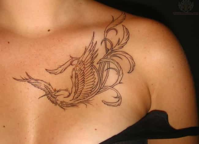 Heron Collar Bone Tattoo is listed (or ranked) 3 on the list 25 Stunning Collar Bone Tattoo Ideas