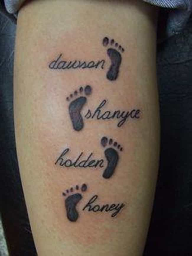 Footprints Family Tattoo... is listed (or ranked) 2 on the list Family Tattoo Ideas