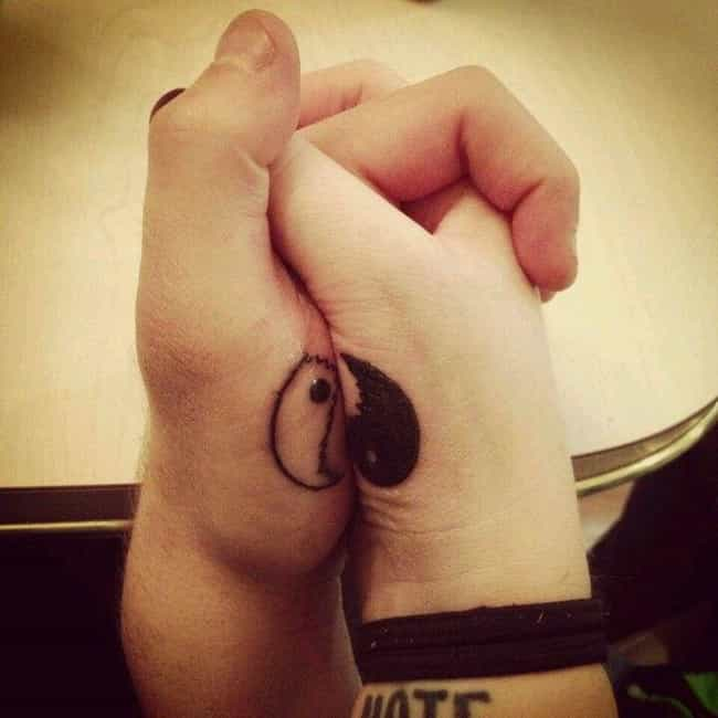 Yin And Yang Matching Ta... is listed (or ranked) 4 on the list Matching Tattoo Ideas