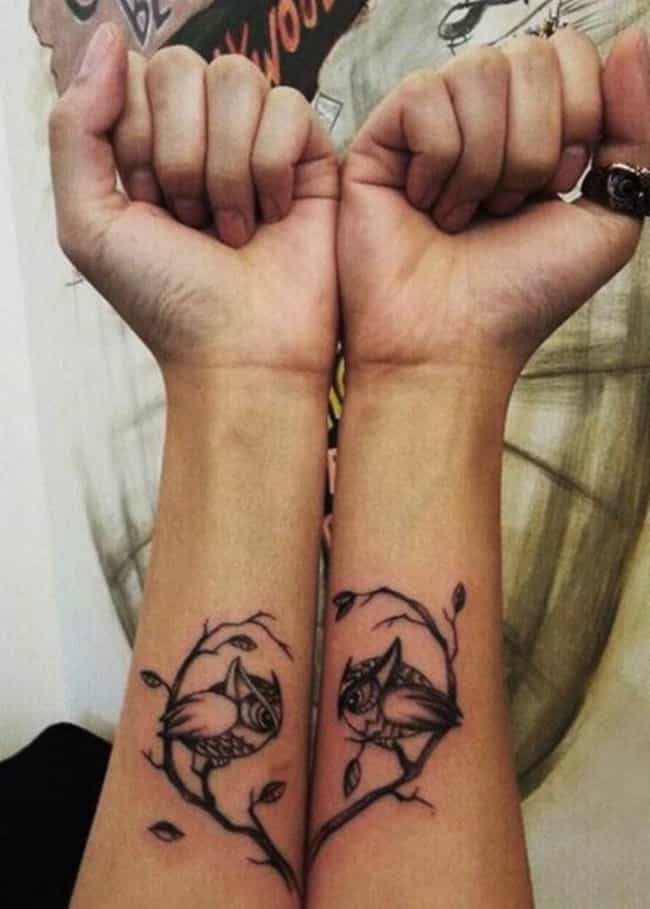 Owl Matching Tattoo is listed (or ranked) 2 on the list Matching Tattoo Ideas
