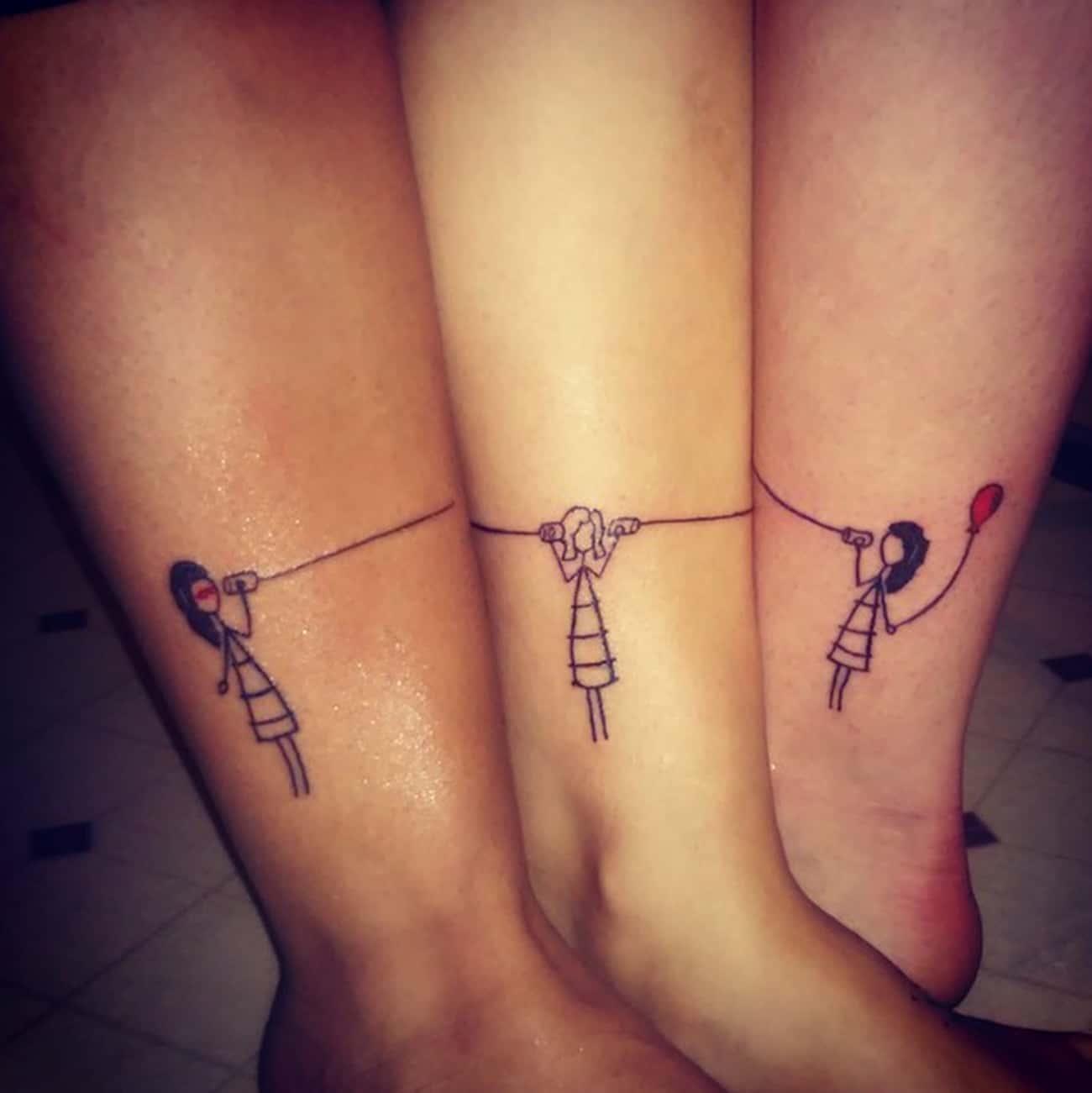 Stick Figure Best Friend Tatto is listed (or ranked) 2 on the list Best Friend Tattoo Ideas