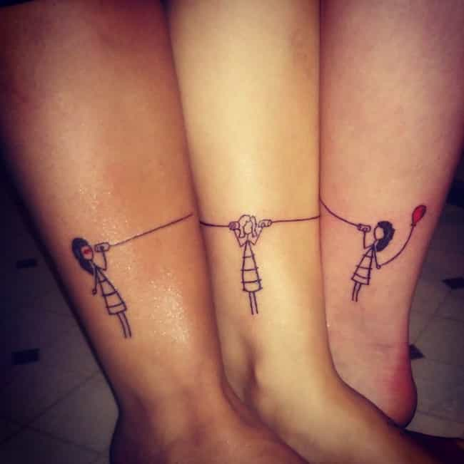 Stick Figure Best Friend Tatto... is listed (or ranked) 3 on the list Best Friend Tattoo Ideas