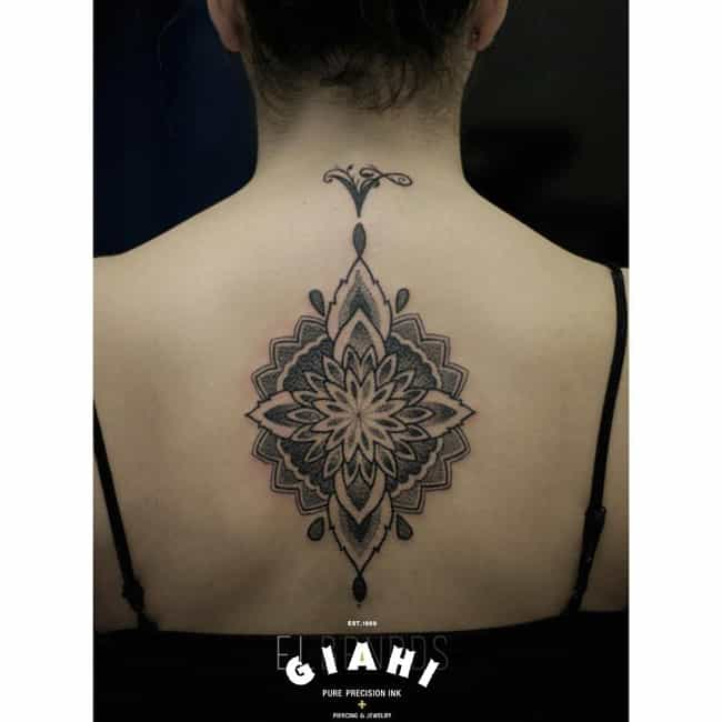 Tribal Symbol Spine Tattoo is listed (or ranked) 4 on the list 25 Ideas to Get a Tattoo Right Up Your Spine