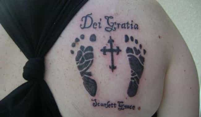 Baby Footprints Tattoo is listed (or ranked) 1 on the list Tattoo Ideas to Celebrate a Baby