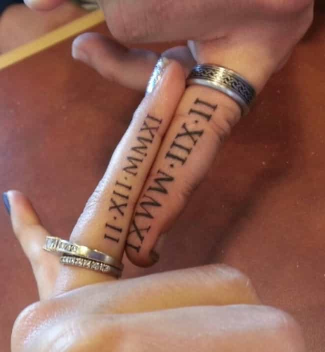 1b1db72ad Roman Numeral Tattoo Ideas | Designs for Roman Numeral Tattoos