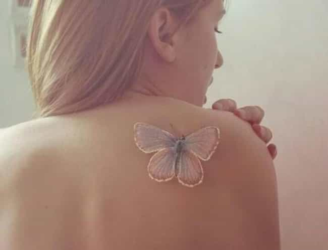 Butterfly White Ink Tatt... is listed (or ranked) 1 on the list White Ink Tattoo Ideas