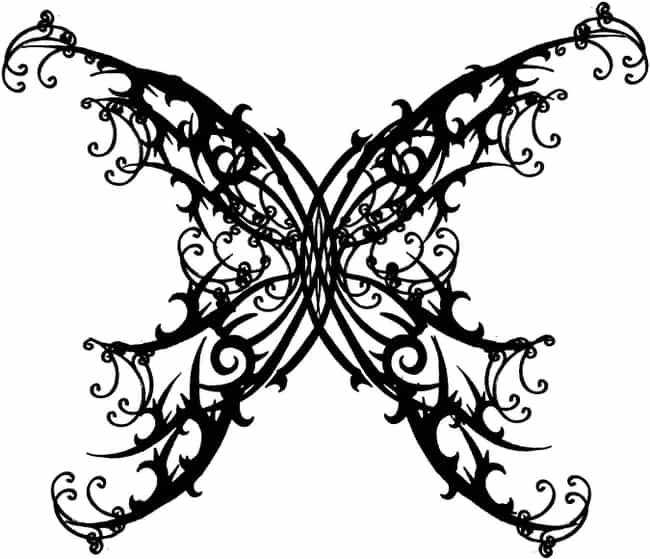 Gothic Butterfly Tattoo is listed (or ranked) 4 on the list 25 Cool Gothic Tattoo Ideas for Your Next Tat