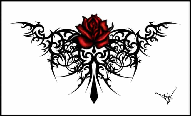 Gothic Rose Tattoo is listed (or ranked) 1 on the list 25 Cool Gothic Tattoo Ideas for Your Next Tat