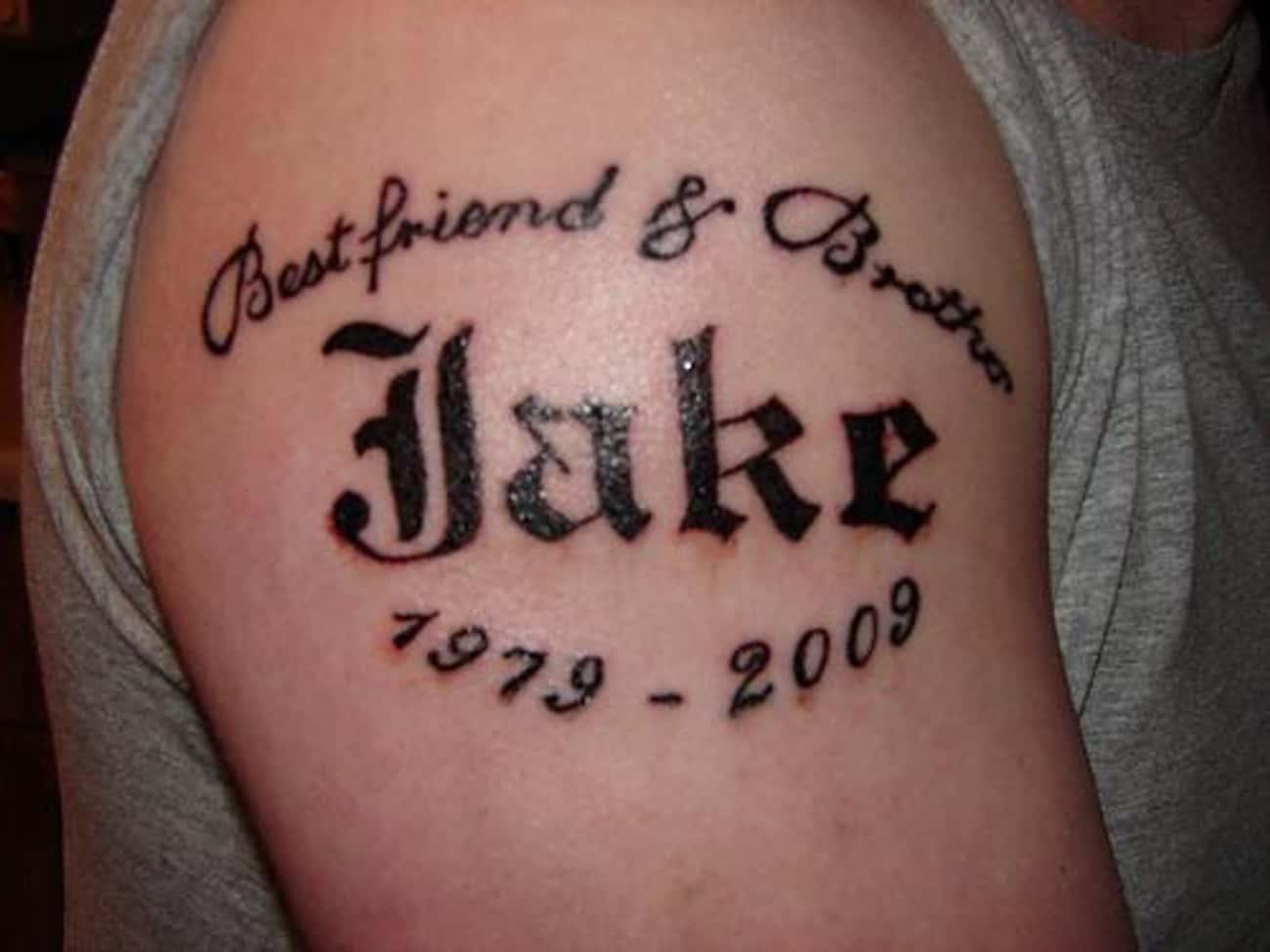 Name RIP Tattoo