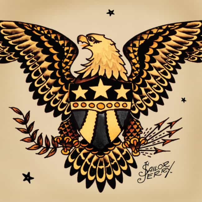 Eagle Sailor Jerry Tatto... is listed (or ranked) 4 on the list Sailor Jerry Tattoo Ideas