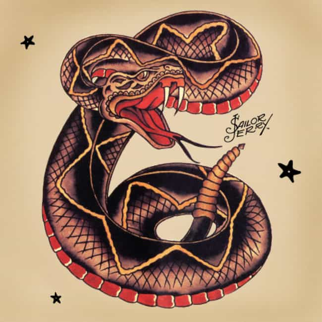 Rattlesnake Sailor Jerry... is listed (or ranked) 3 on the list Sailor Jerry Tattoo Ideas