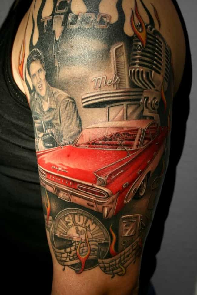 Elvis And Car Rockabilly Tatto Is Listed Or Ranked 2 On