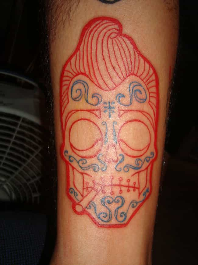 Sugar Skull Rockabilly Tattoo