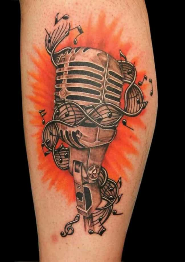 Microphone Rockabilly Tattoo is listed (or ranked) 3 on the list Rockabilly Tattoo Ideas