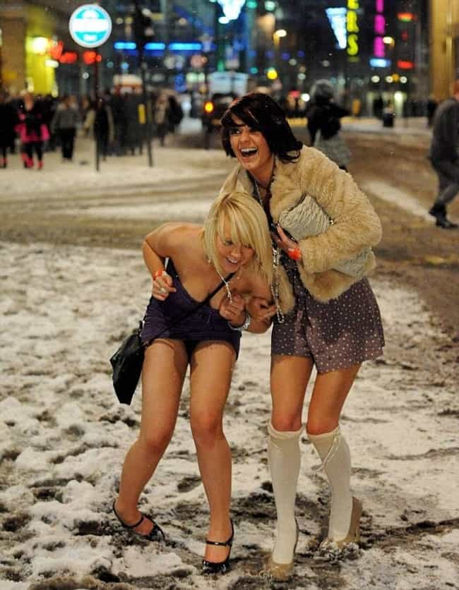 When the Urge to Snow Angel Ju... is listed (or ranked) 3 on the list White Girl Wasted: New Year's Eve Edition